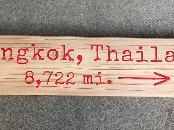 Bankok, Thailand mileage sign