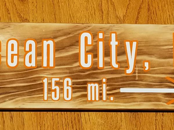 Ocean City mileage sign