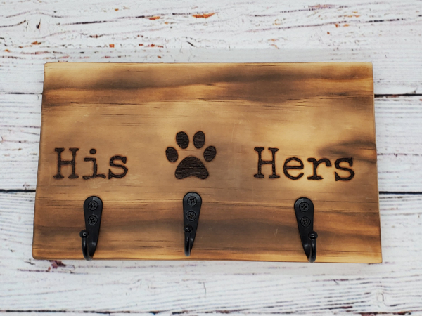 His,Hers,Pet Key/Leash Holder