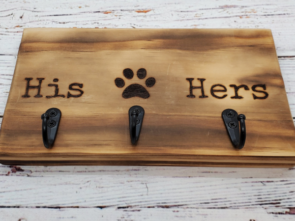 His,Hers,Pet Key/Leash Holder alternate view