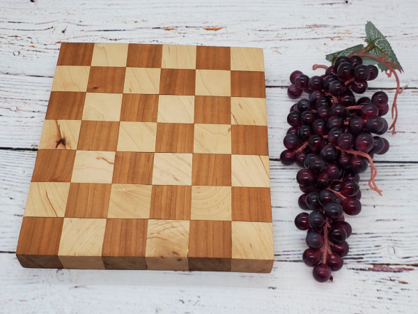 Handmade maple and cherry cheeseboard alternate view
