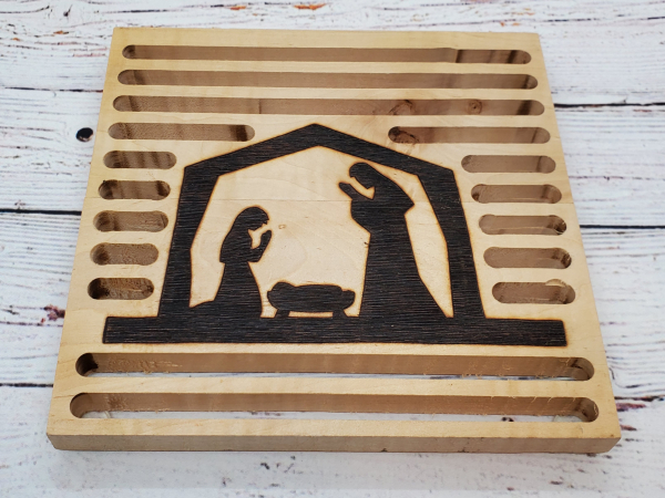 Christmas Nativity Trivet alternate view