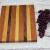 Handmade maple, walnut, and spanish cedar cheeseboard alternate view