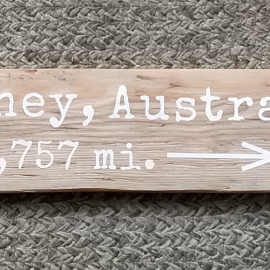 Sydney, Australia mileage sign