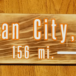 Ocean City mileage sign