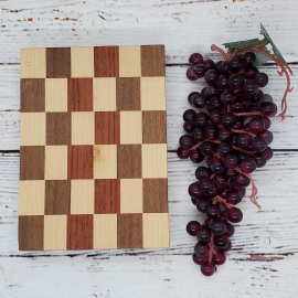 Handmade maple, walnut, and saepele cheeseboard