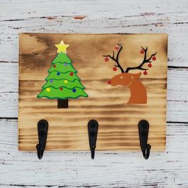 Christmas Tree, Reindeer Key/Leash/Mask/Etc. Holder