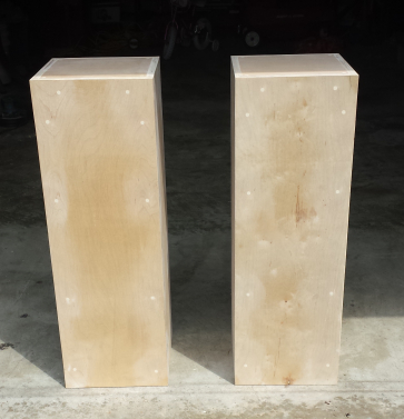 Custom pillars for a florist