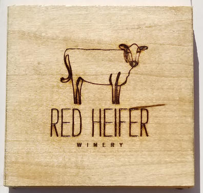 Custom coasters for a Maryland winery