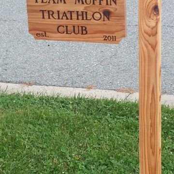 Custom sign for a local triathlon club