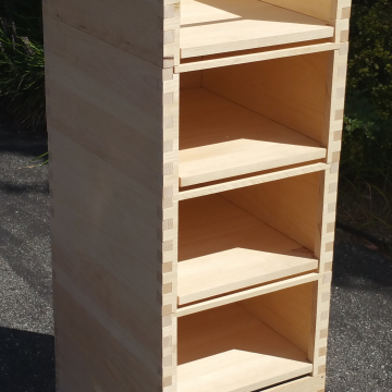 Custom Bee Boxes for product display