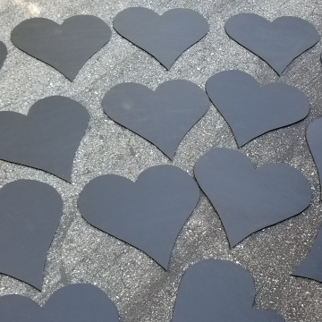 Custom chalkboard hearts created for a customer