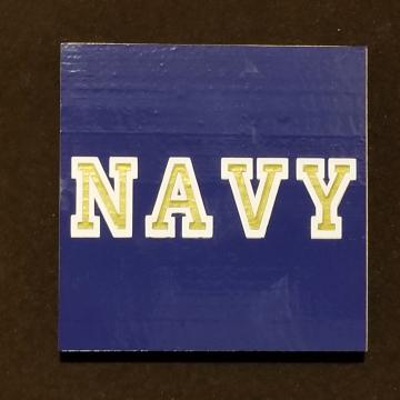 NAVY vinyl coaster