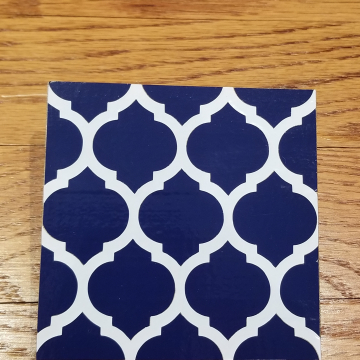 Blue and White Moroccan pattern vinyl coaster