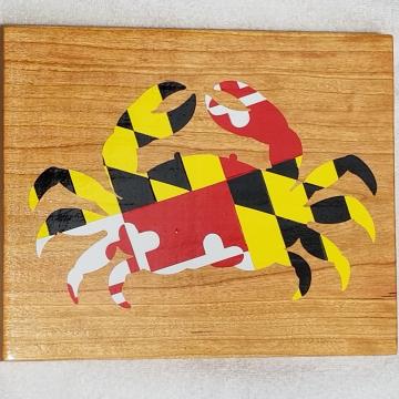 Maryland Flag Crab Sign