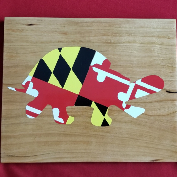 Maryland Flag Turtle Sign