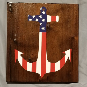 American Flag Anchor sign