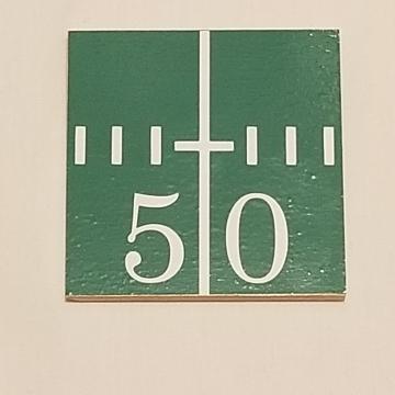 50 yard line vinyl coaster