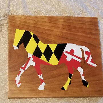 Maryland Flag Horse Sign