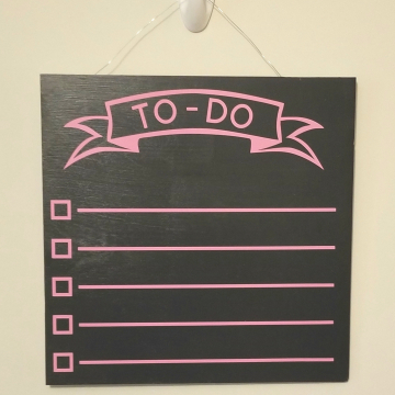"12"" TO-DO chalkboard - pink"