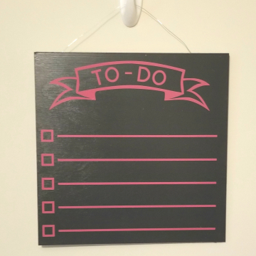 "12"" TO-DO chalkboard - magenta"