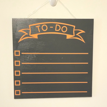 "12"" TO-DO chalkboard - orange"