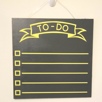 "12"" TO-DO chalkboard - yellow"