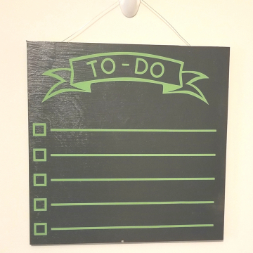 "12"" TO-DO chalkboard - green"