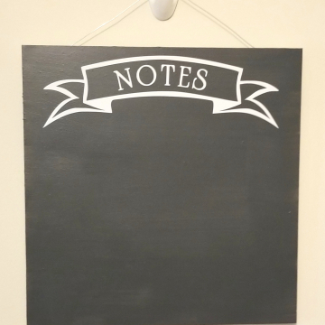 "12"" Notes chalkboard - white"