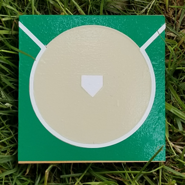 Baseball Diamond vinyl coaster