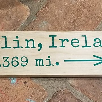 Dublin, Ireland mileage sign