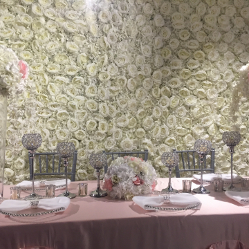 Custom Flower Wall on Display (image 2/2)