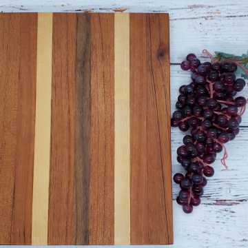 Handmade Maple, Walnut, Cherry, and Spanish Cedar Cheeseboard